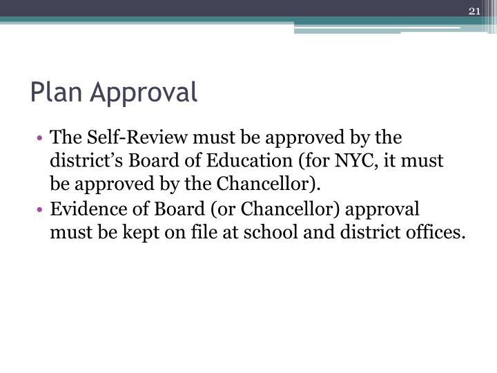 Plan Approval