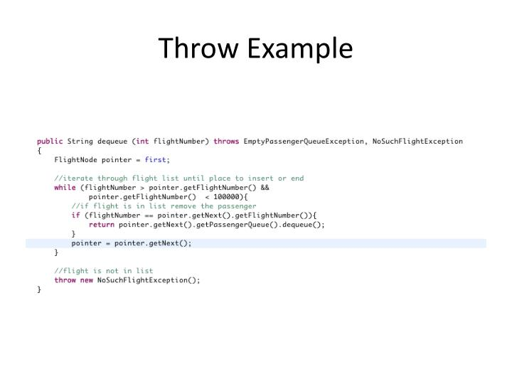 Throw Example
