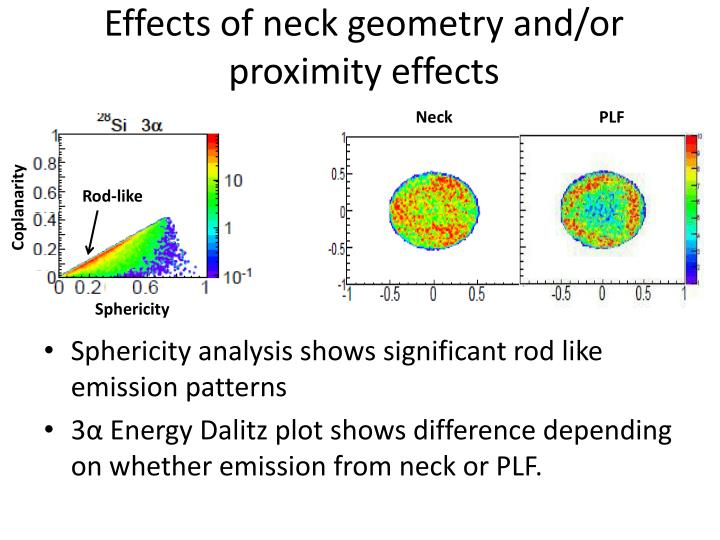 Effects of neck geometry and/or proximity effects