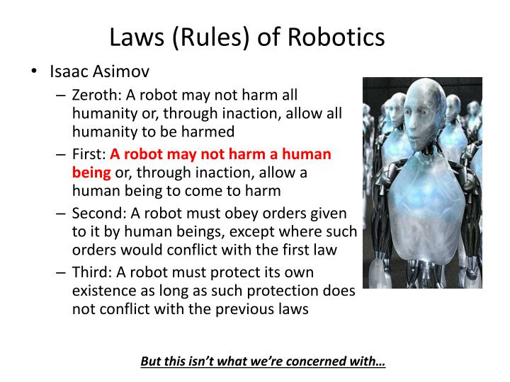 Laws rules of robotics