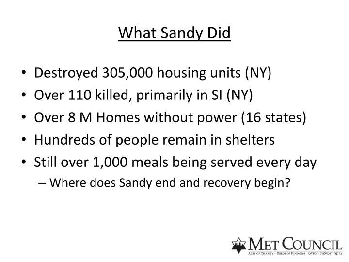 What Sandy