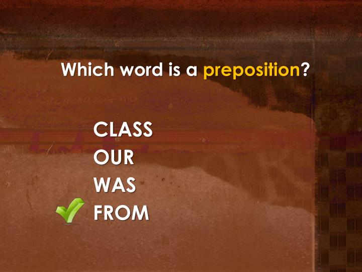 Which word is a