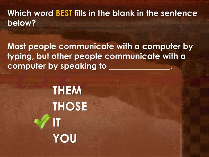 Which word