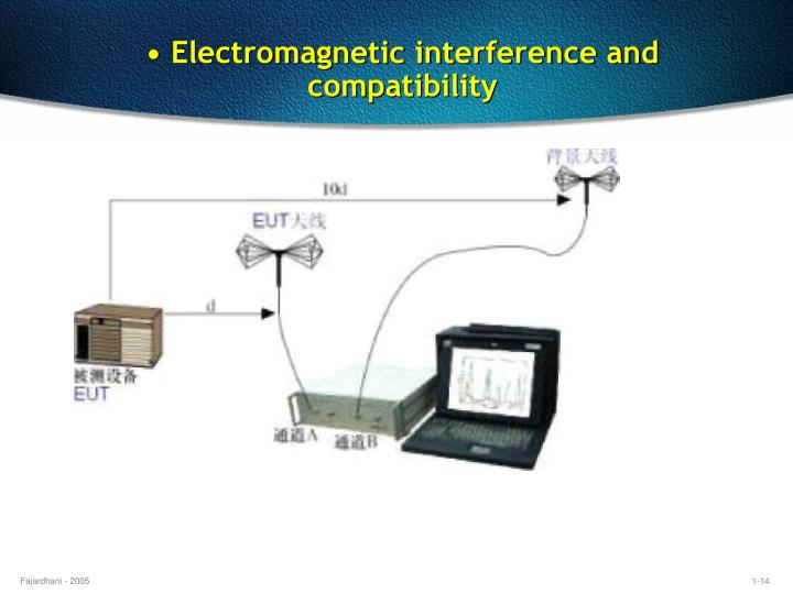 • Electromagnetic interference and compatibility