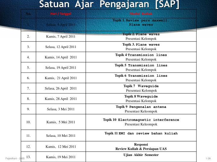 Satuan  Ajar  Pengajaran  [SAP]