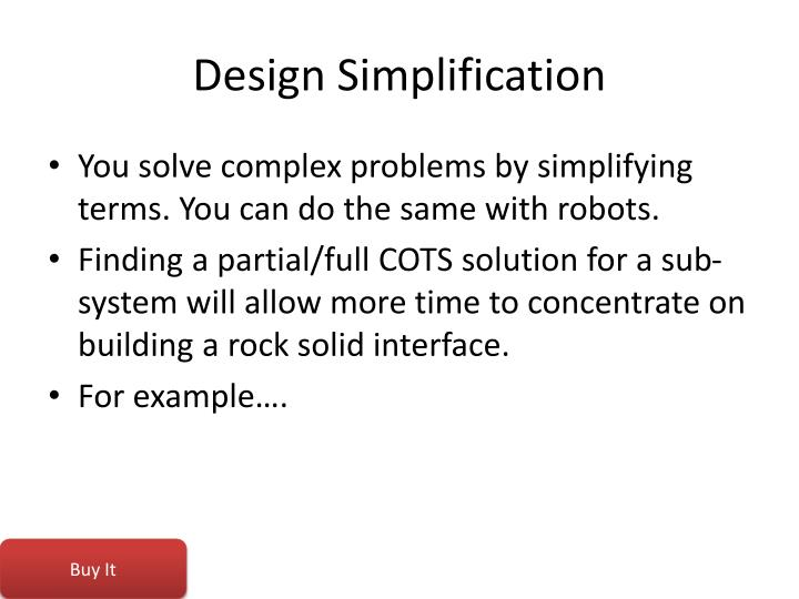 Design Simplification