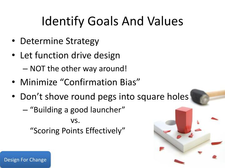 Identify Goals And Values
