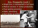 eco prosperity cont