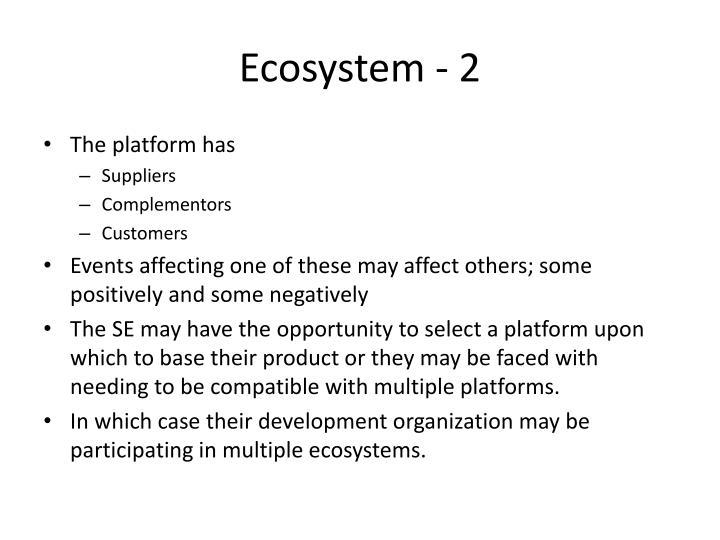 Ecosystem - 2