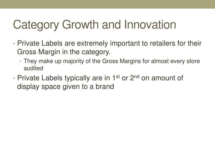 Category Growth and Innovation