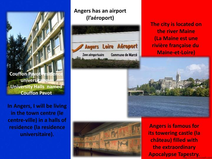 Angers has an airport (