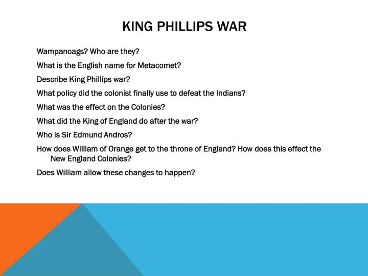 King Phillips war