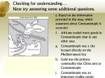 checking for understanding now try answering some additional questions2