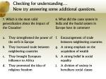 checking for understanding now try answering some additional questions3