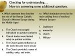 checking for understanding now try answering some additional questions4