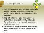 feudalism 800 1400 ad