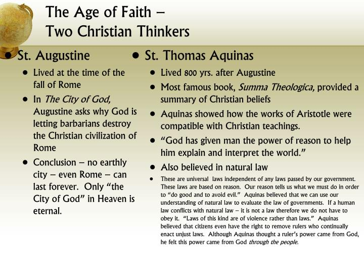 The Age of Faith –