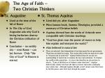 the age of faith two christian thinkers