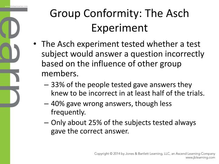 Group Conformity: The Asch Experiment