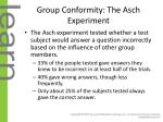 group conformity the asch experiment