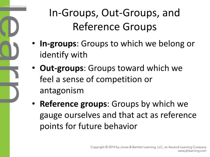 In-Groups, Out-Groups, and Reference Groups