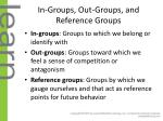 in groups out groups and reference groups