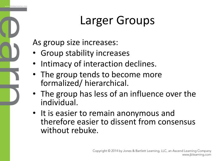 Larger Groups