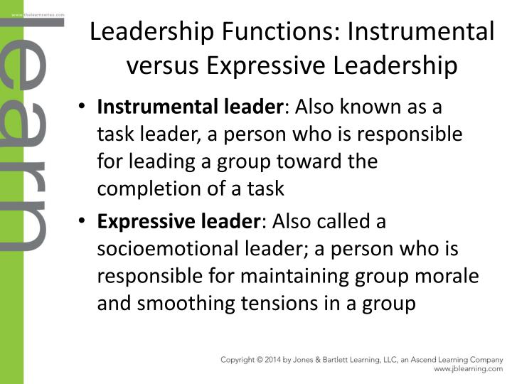 Leadership Functions: Instrumental versus Expressive Leadership