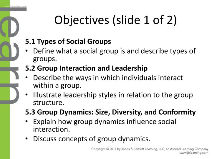 Objectives (slide 1 of 2)