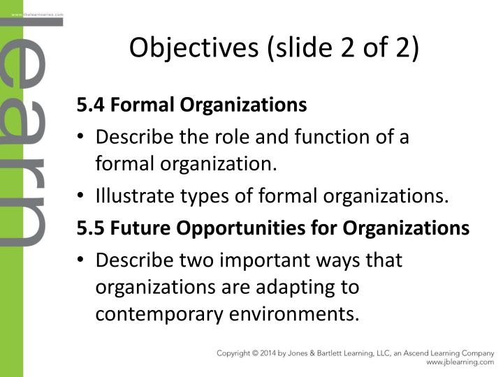 Objectives (slide 2 of 2)
