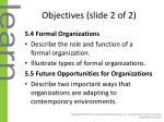 objectives slide 2 of 2