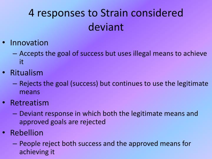 4 responses to Strain considered deviant