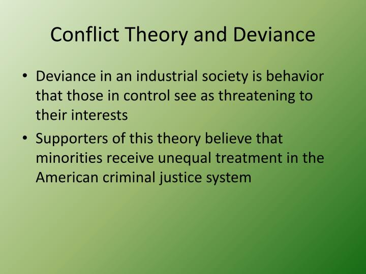 Conflict Theory and Deviance