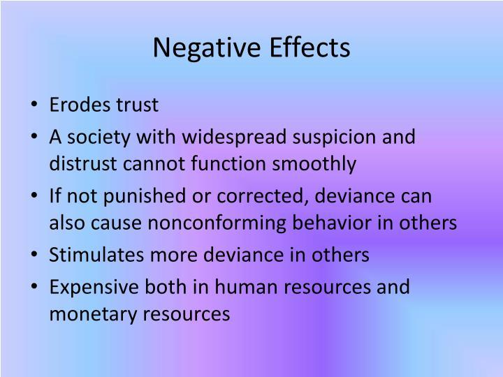 Negative Effects