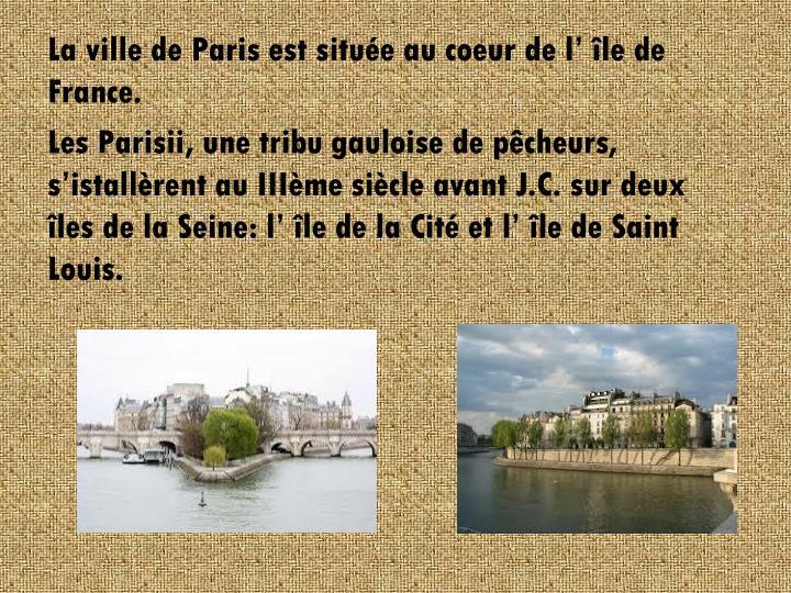 La ville de Paris est