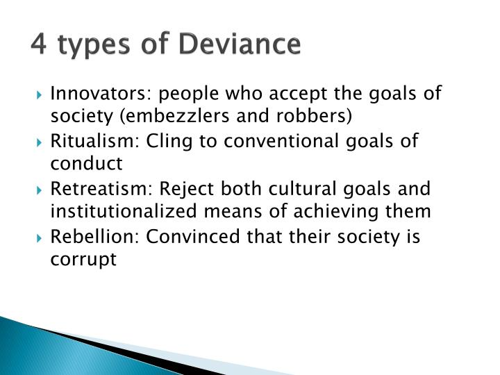 4 types of Deviance
