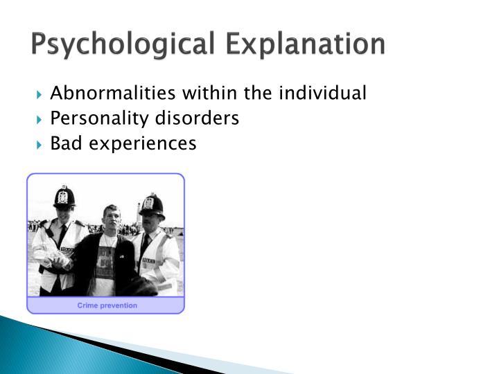 Psychological Explanation