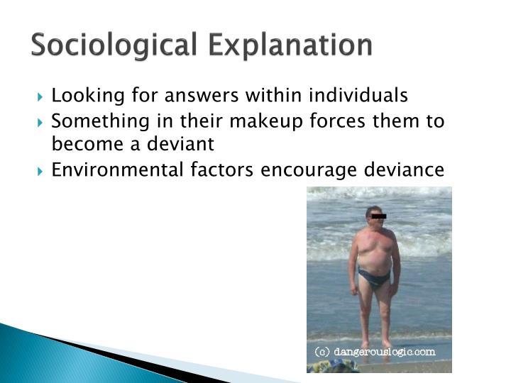 Sociological Explanation