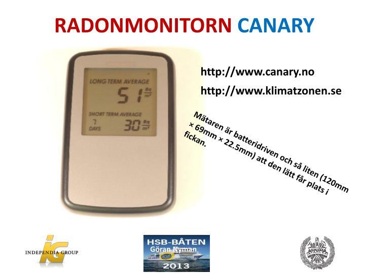 RADONMONITORN