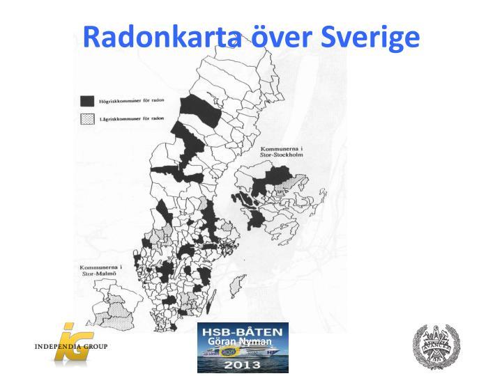 Radonkarta över