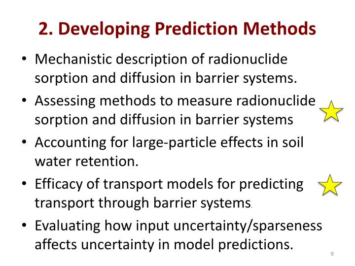 2. Developing Prediction Methods