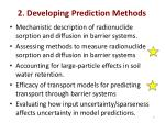 2 developing prediction methods