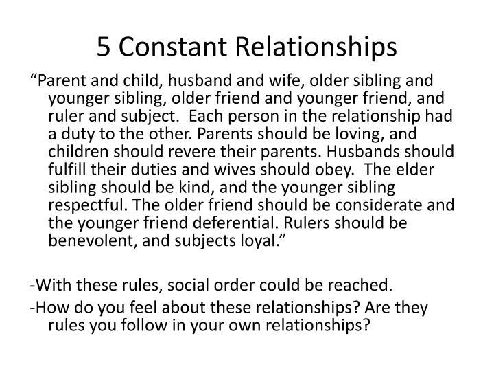5 Constant Relationships