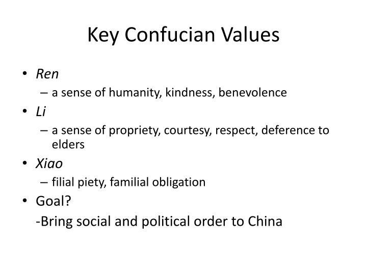 Key Confucian Values