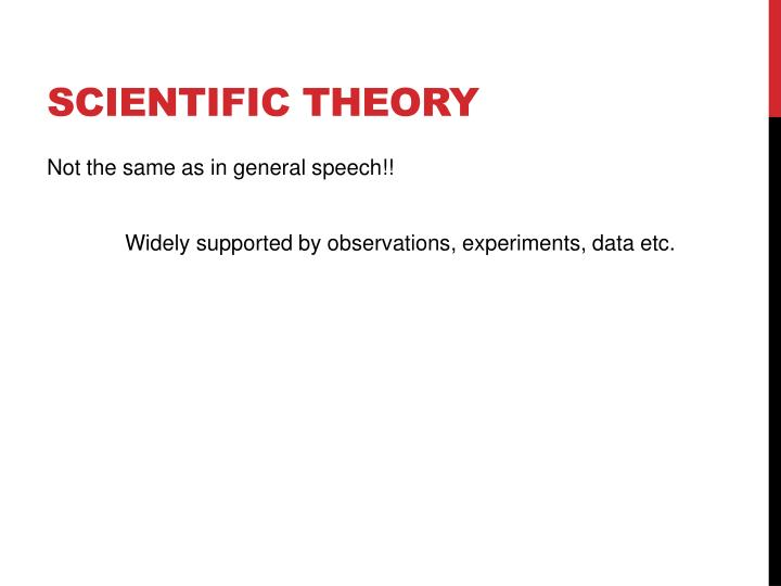 Scientific theory