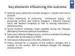 key elements influencing the outcome