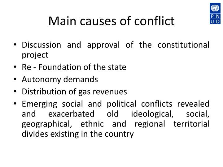 Main causes of conflict