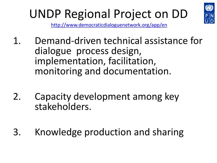 UNDP Regional Project on DD