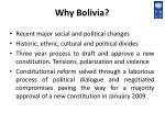 why bolivia