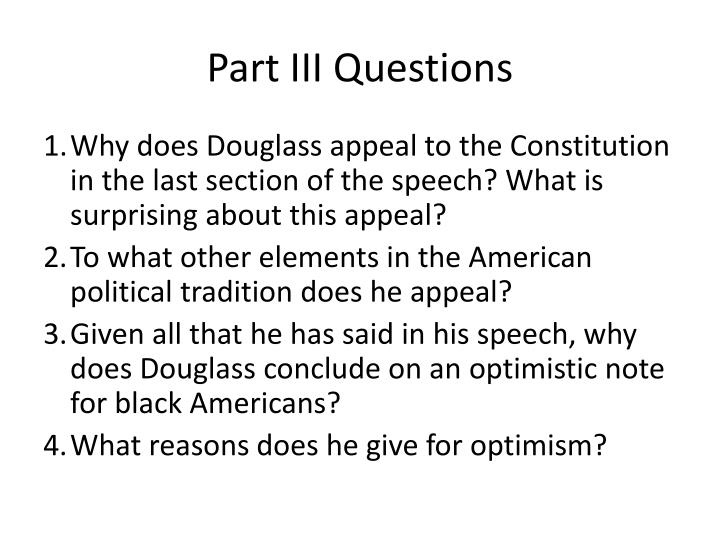 in video questions part iii Part iii, questions unanswered by justin curmi the last paper i have written, revision of the bill of rights, part iii, has garner interesting opinions and perspectives on the matter.